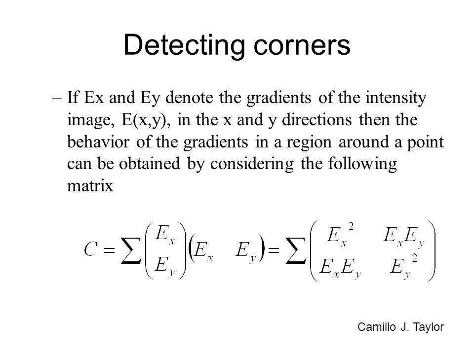 Detecting corners