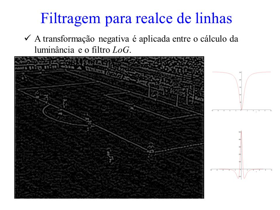 Filtragem para realce de linhas