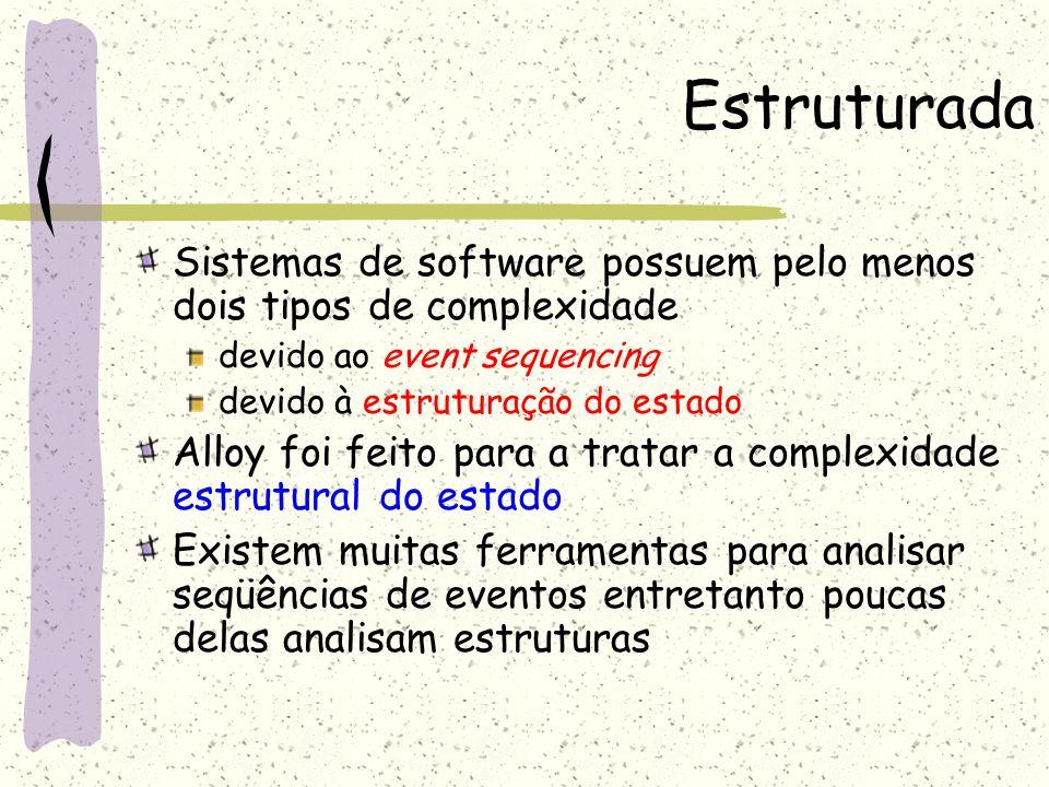 Estruturada Sistemas de software possuem pelo menos dois tipos de complexidade. devido ao event sequencing.