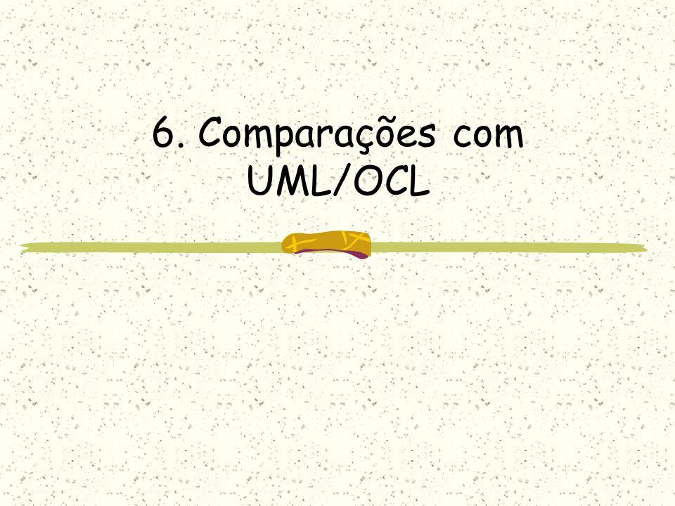 6. Comparações com UML/OCL