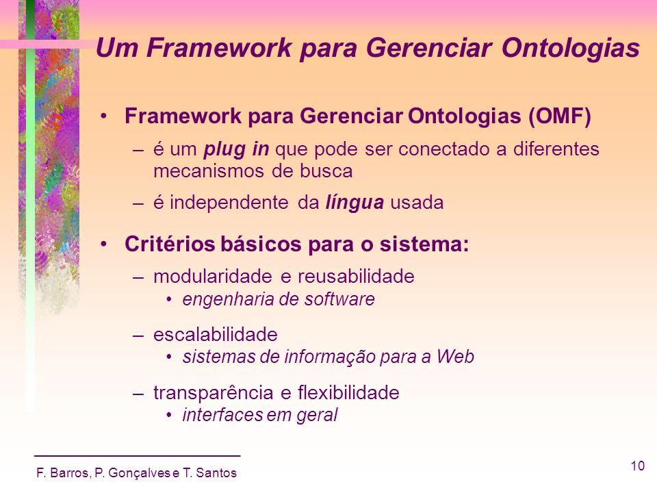 Um Framework para Gerenciar Ontologias