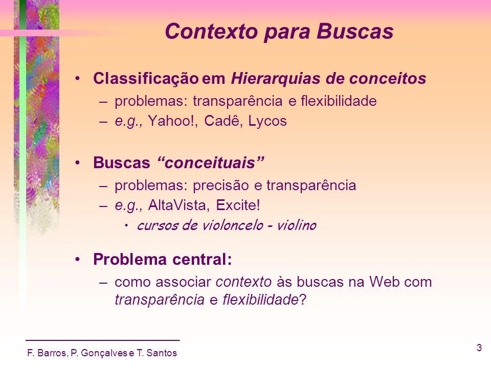 Contexto para Buscas Classificação em Hierarquias de conceitos