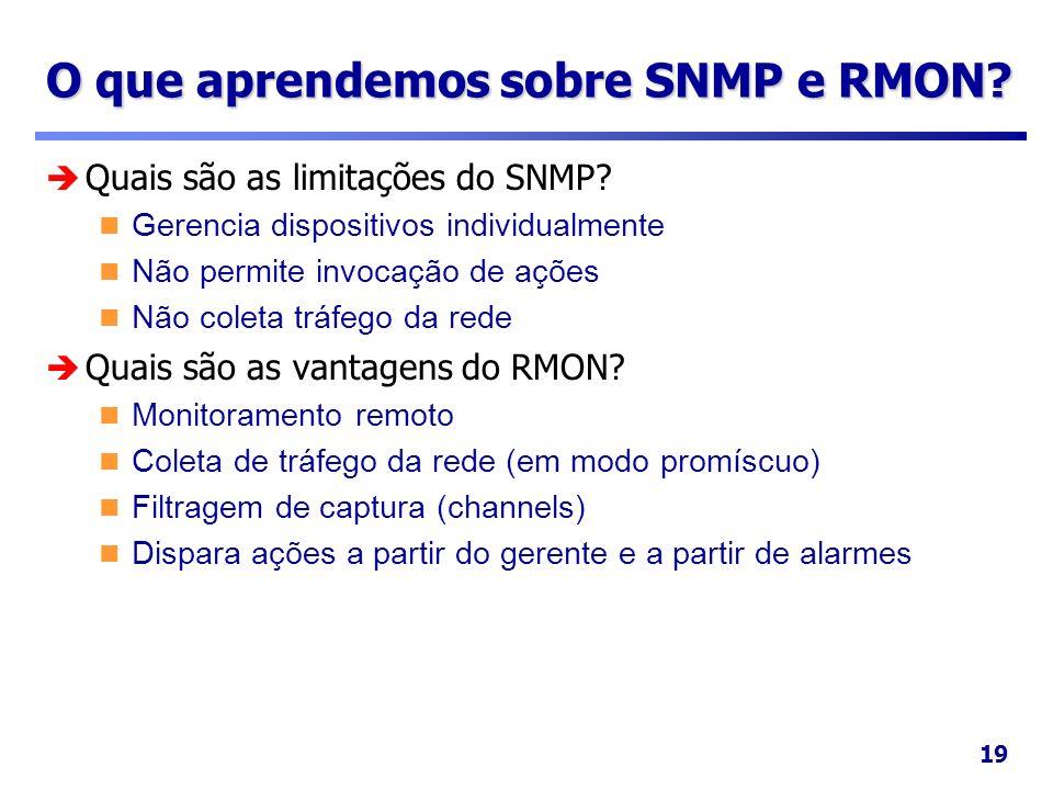 O que aprendemos sobre SNMP e RMON