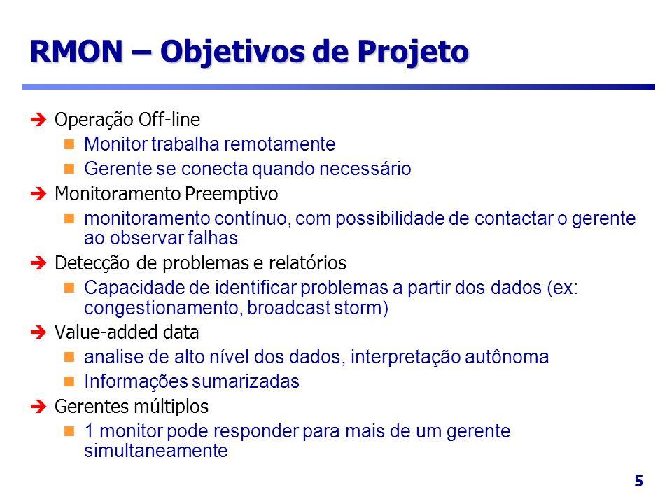 RMON – Objetivos de Projeto