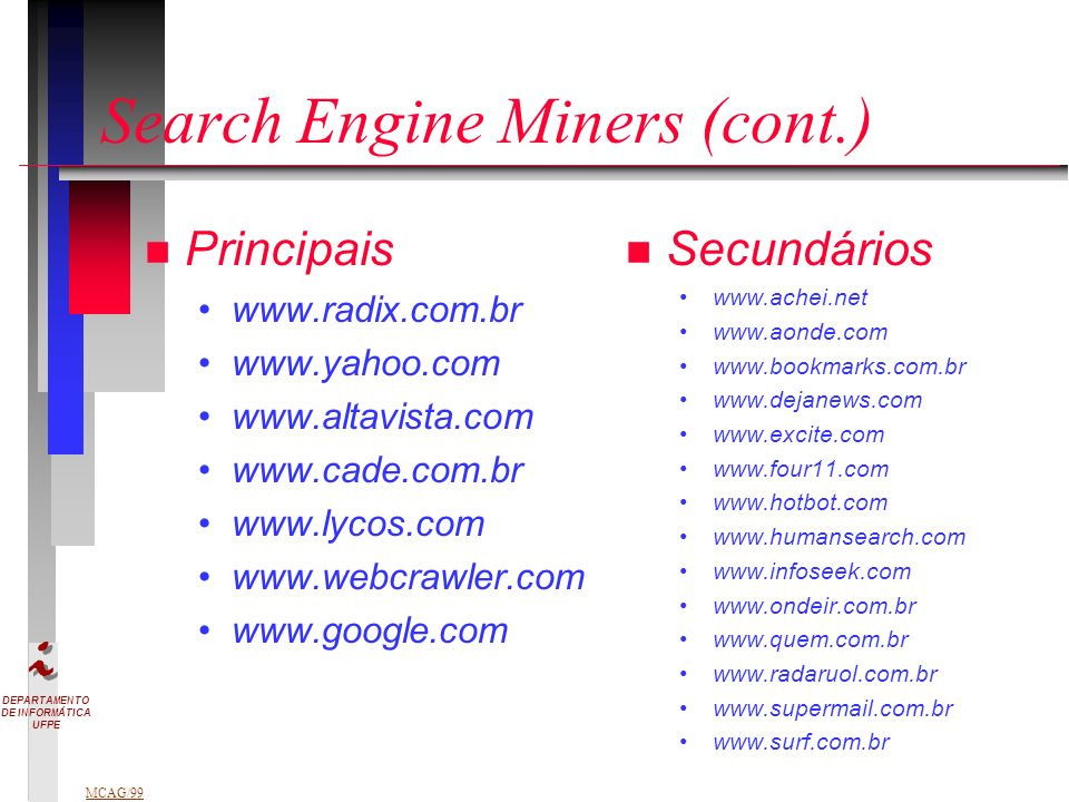 Search Engine Miners (cont.)
