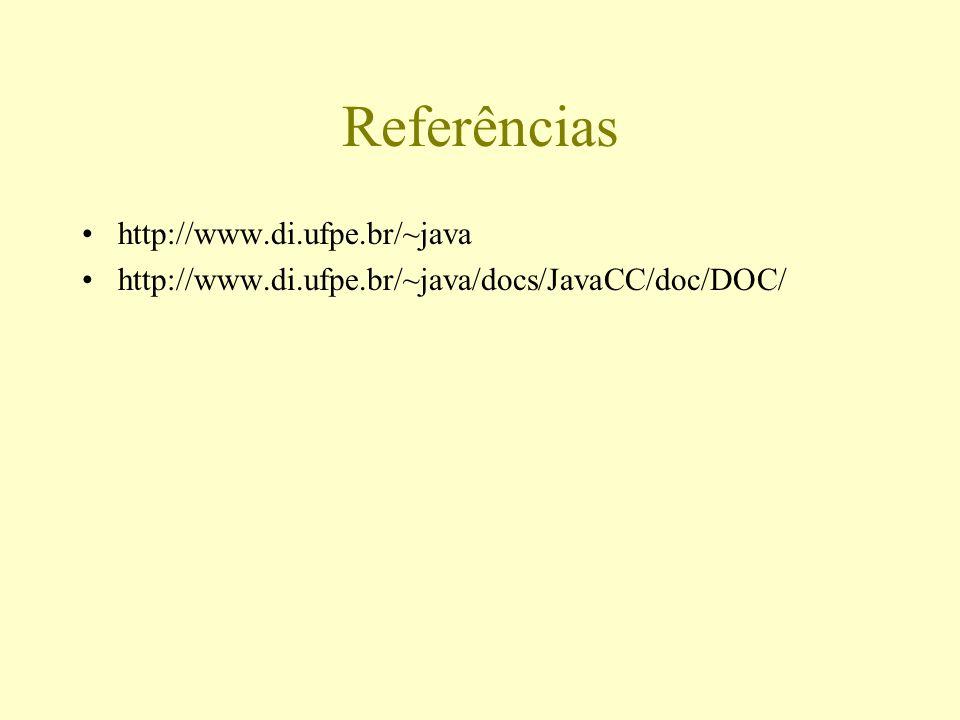 Referências http://www.di.ufpe.br/~java