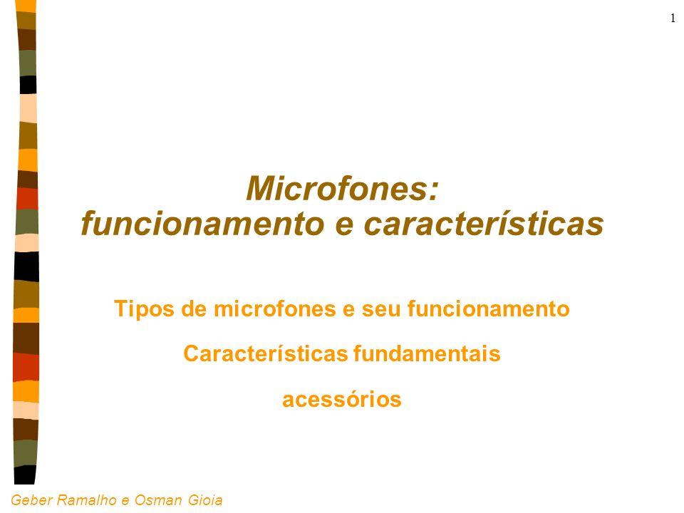 Microfones: funcionamento e características