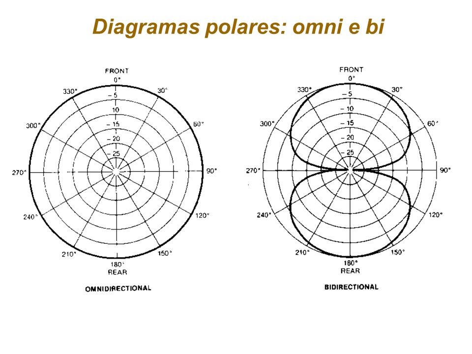 Diagramas polares: omni e bi