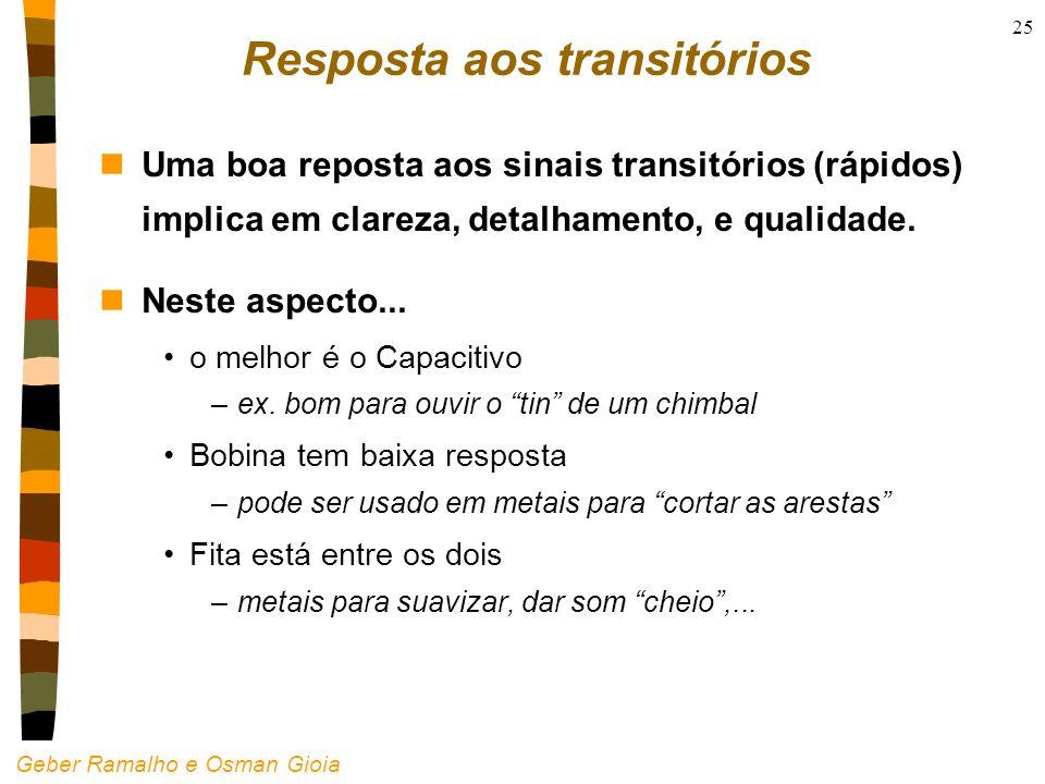 Resposta aos transitórios