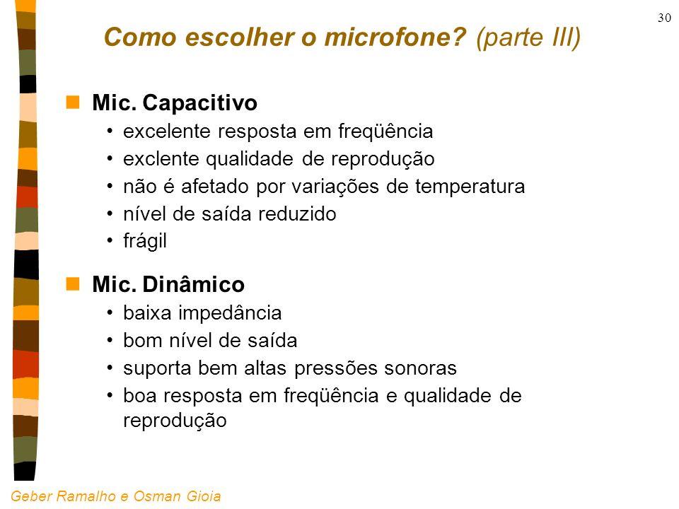 Como escolher o microfone (parte III)