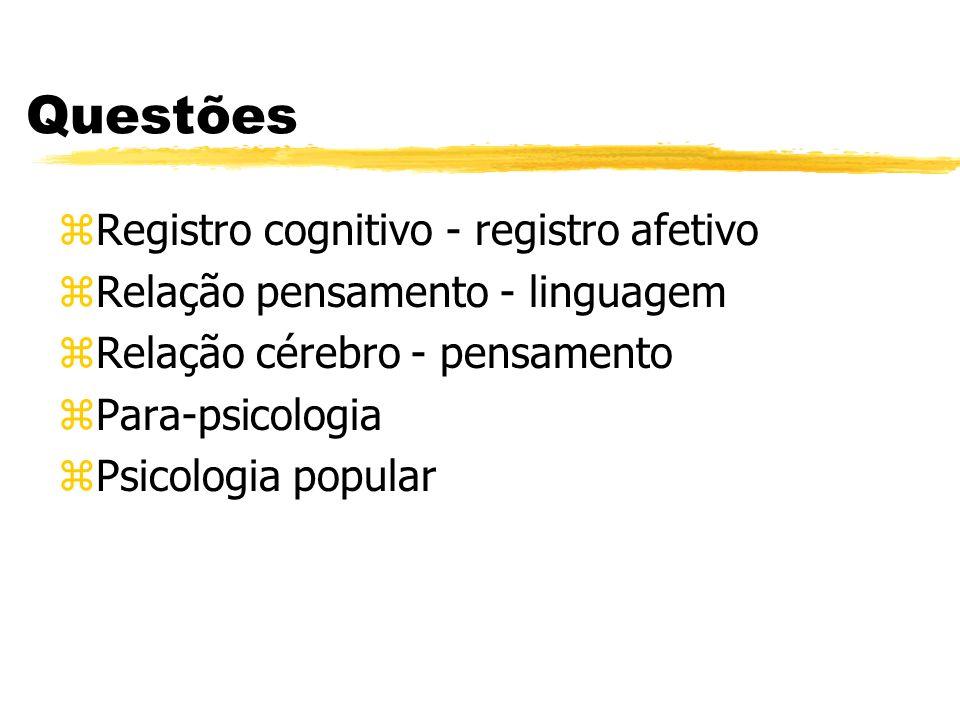 Questões Registro cognitivo - registro afetivo