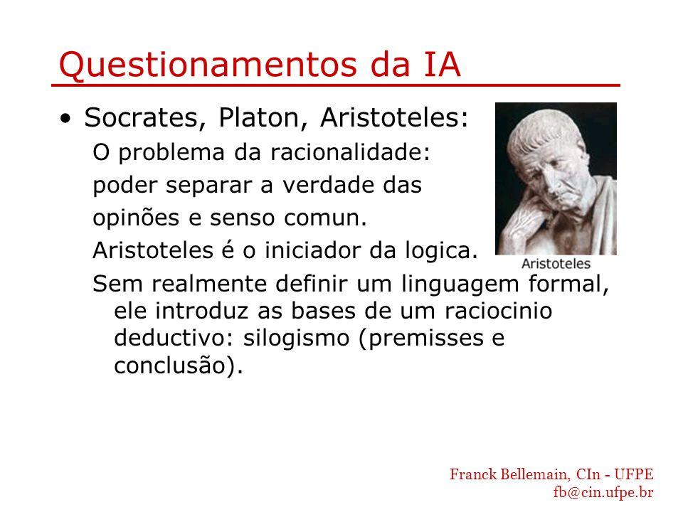Questionamentos da IA Socrates, Platon, Aristoteles: