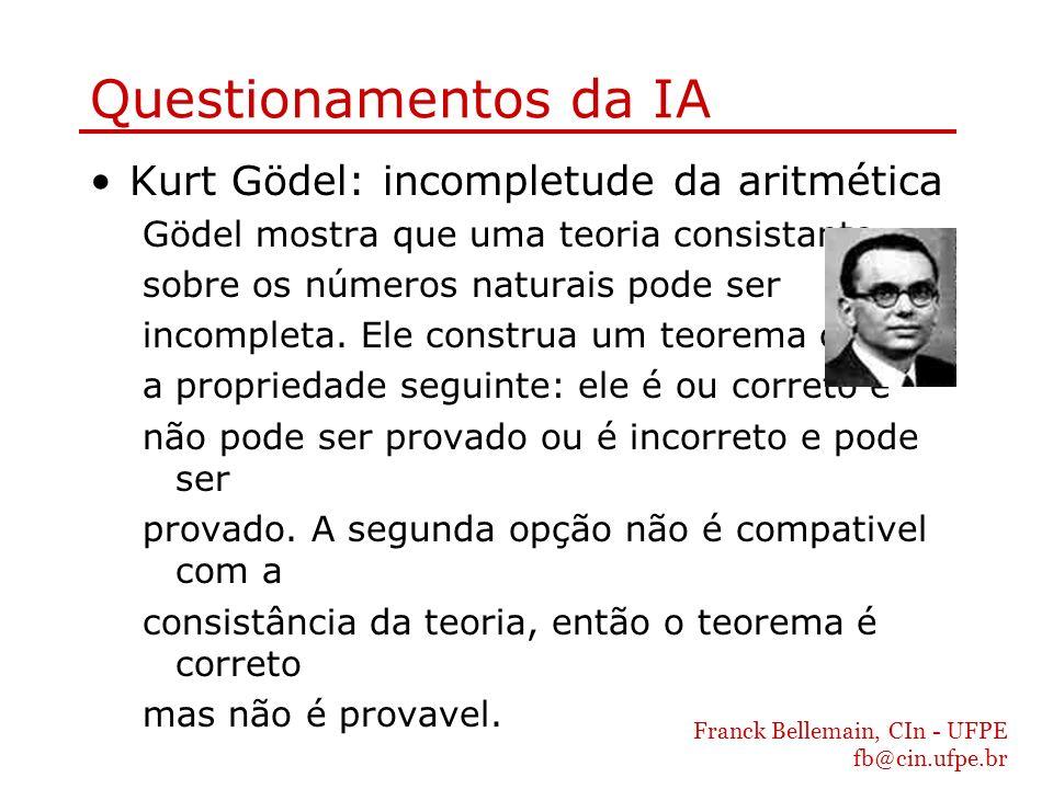 Questionamentos da IA Kurt Gödel: incompletude da aritmética