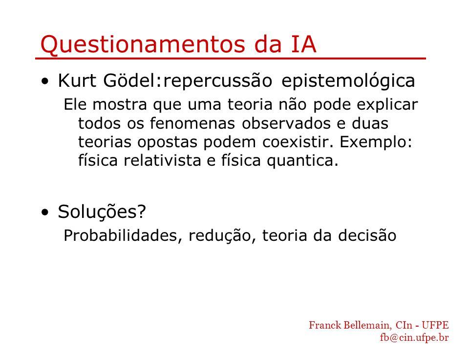 Questionamentos da IA Kurt Gödel:repercussão epistemológica Soluções