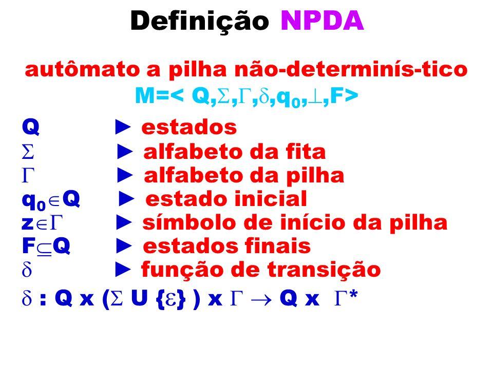 autômato a pilha não-determinís-tico M=< Q,,,,q0,,F>