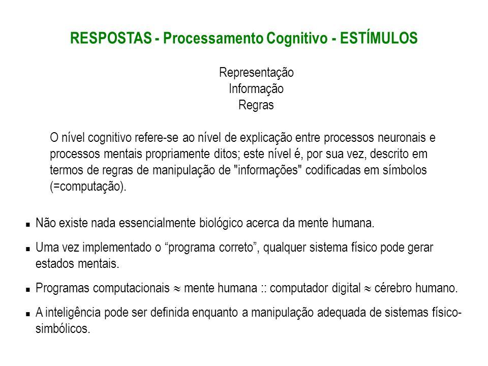 RESPOSTAS - Processamento Cognitivo - ESTÍMULOS