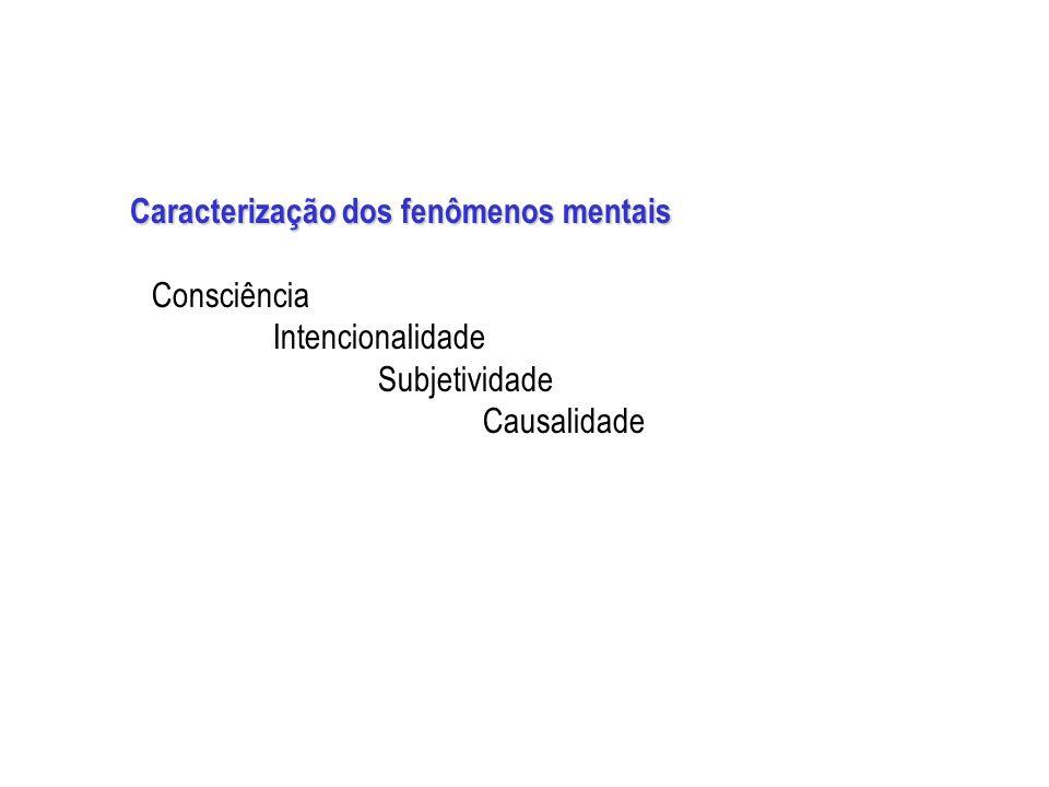 Caracterização dos fenômenos mentais