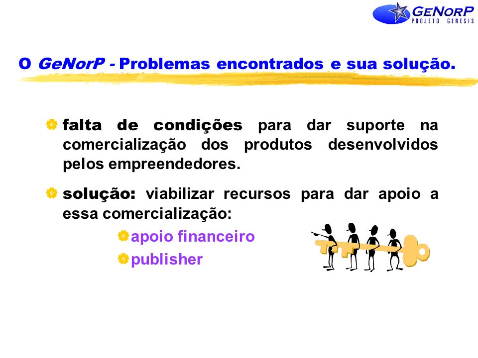 O GeNorP - Problemas encontrados e sua solução.