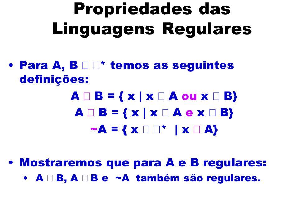Propriedades das Linguagens Regulares