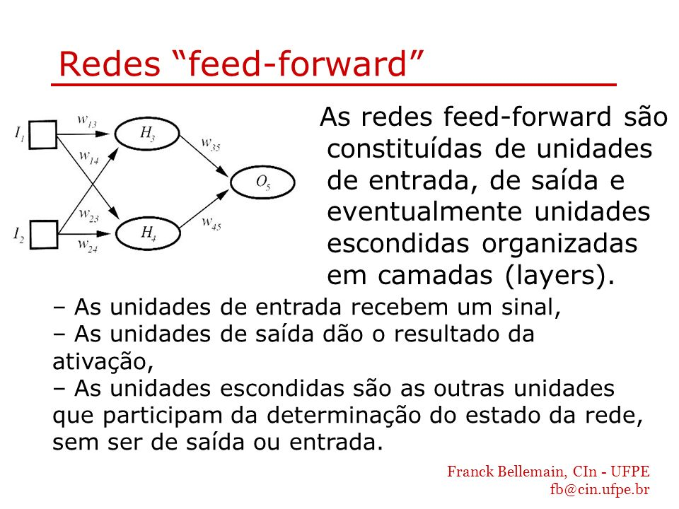 Redes feed-forward