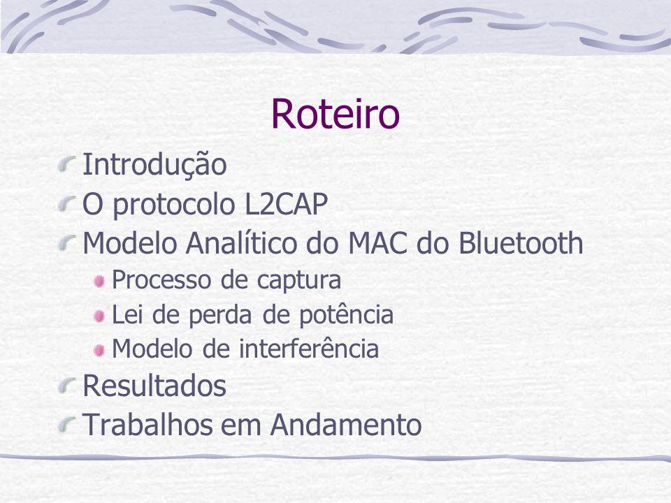 Roteiro Introdução O protocolo L2CAP
