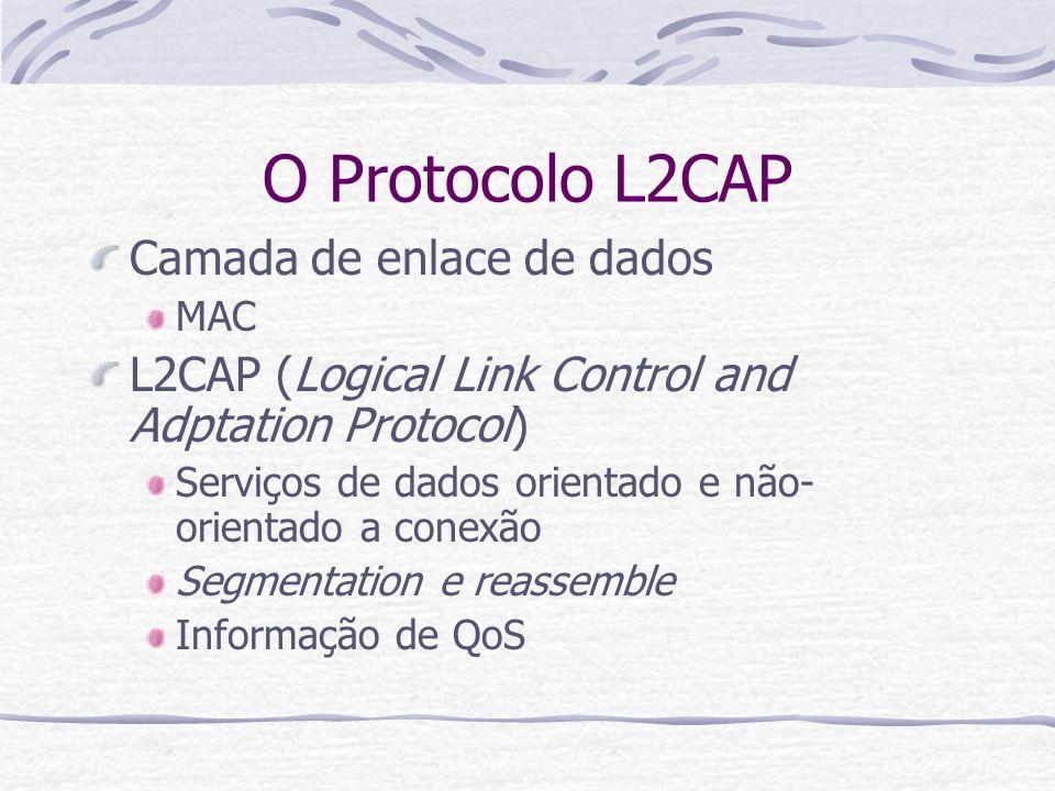 O Protocolo L2CAP Camada de enlace de dados