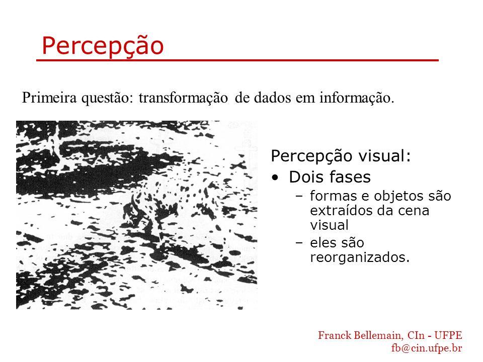Percepção Primeira questão: transformação de dados em informação.