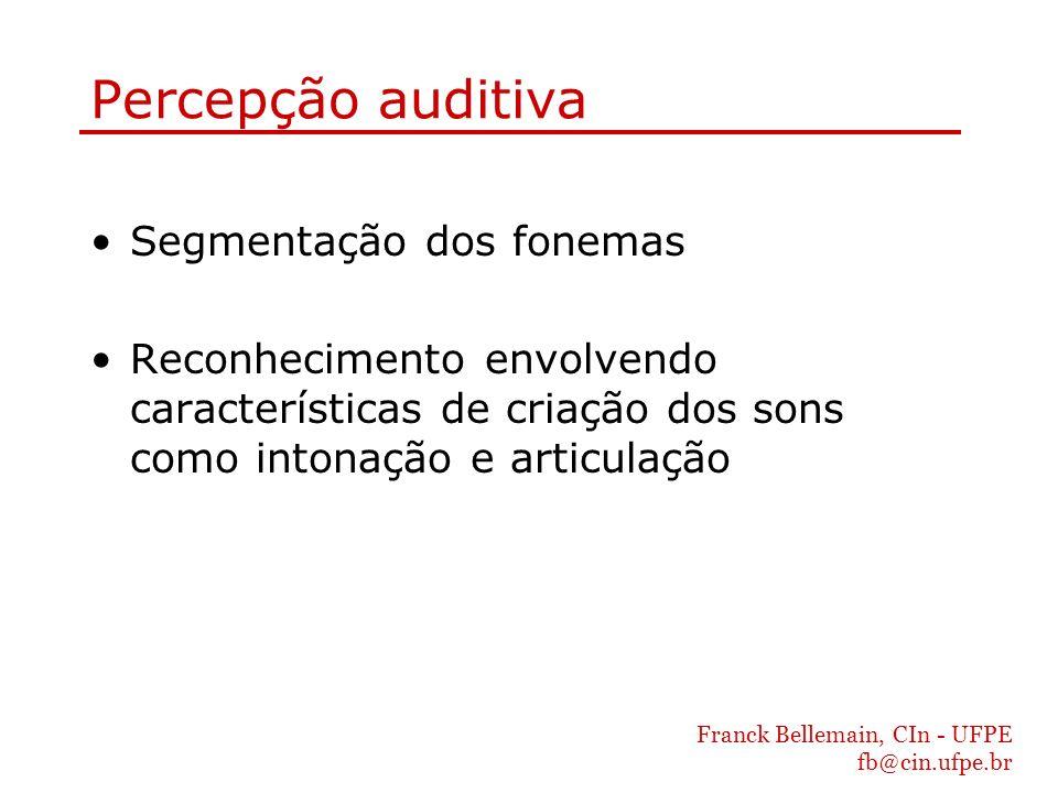 Percepção auditiva Segmentação dos fonemas
