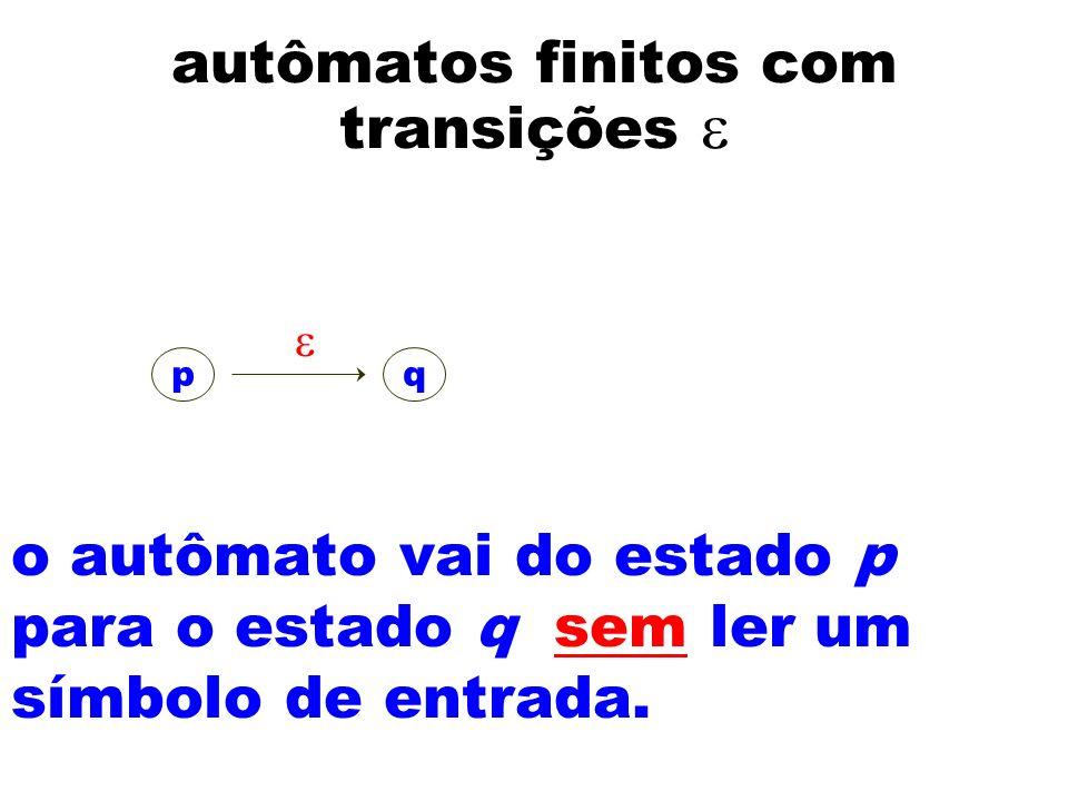 autômatos finitos com transições e