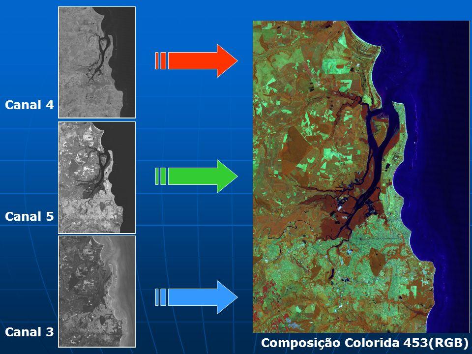 Canal 4 Canal 5 Canal 3 Composição Colorida 453(RGB)