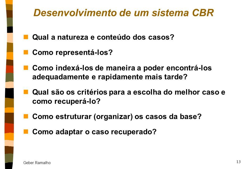 Desenvolvimento de um sistema CBR