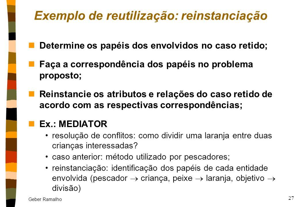 Exemplo de reutilização: reinstanciação