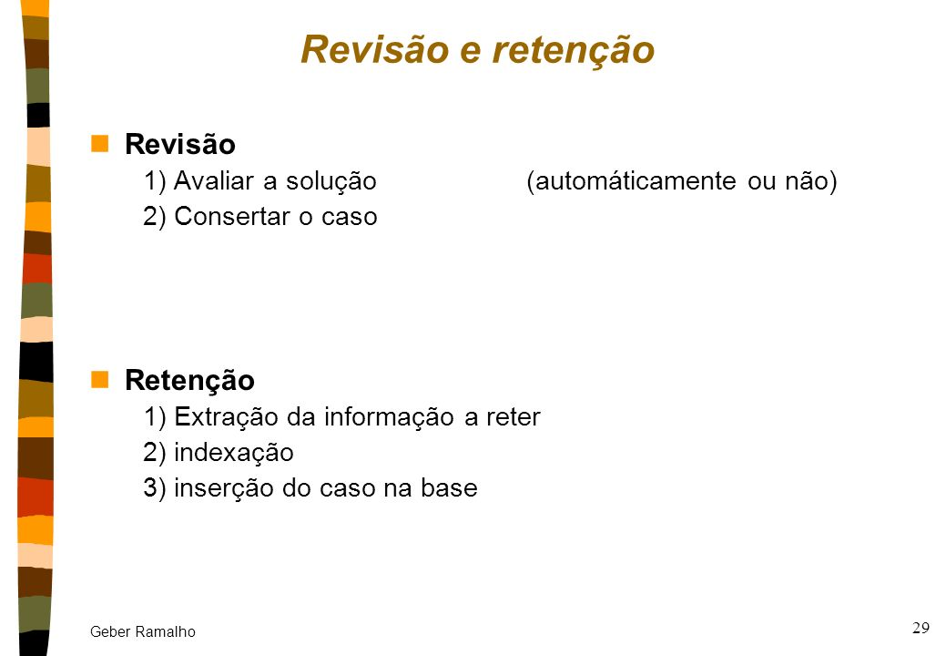 Revisão e retenção Revisão Retenção