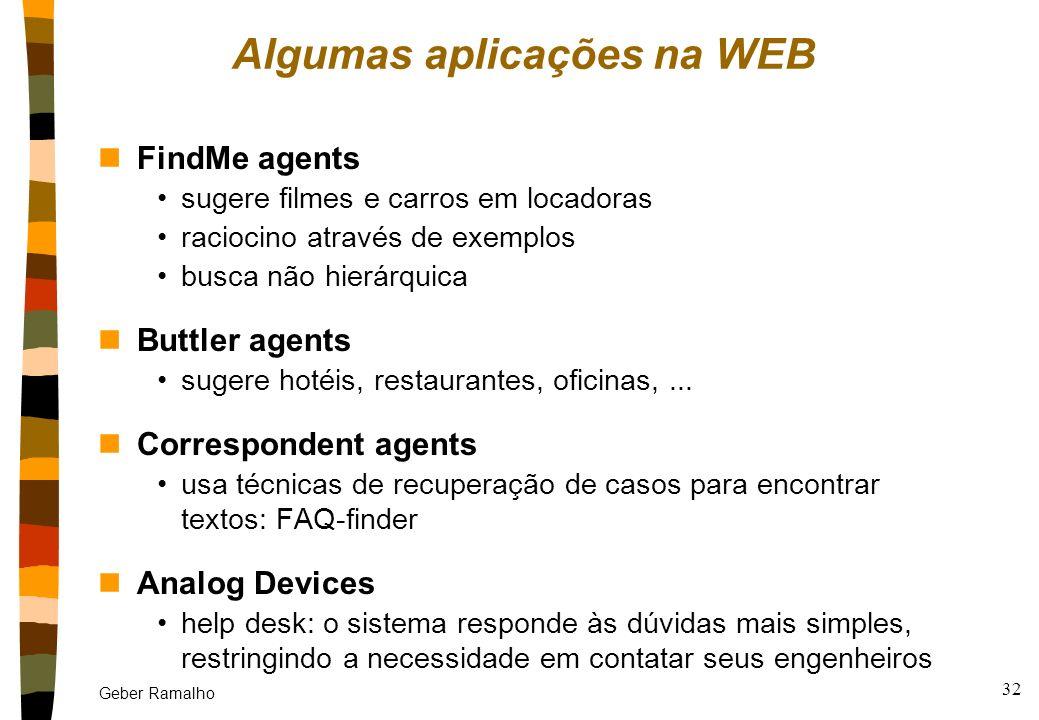 Algumas aplicações na WEB