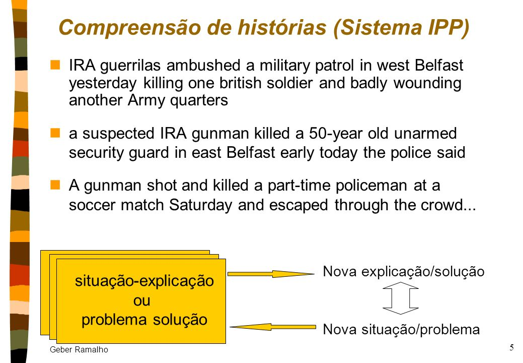 Compreensão de histórias (Sistema IPP)