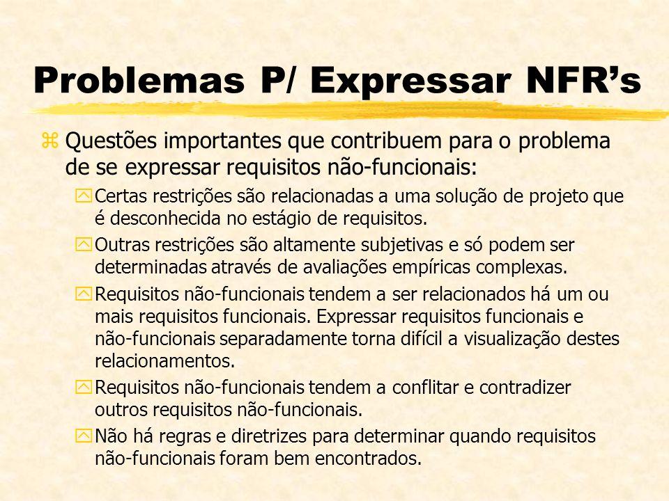 Problemas P/ Expressar NFR's