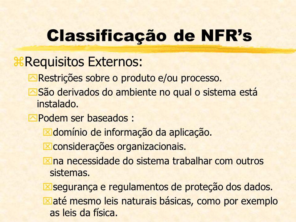 Classificação de NFR's