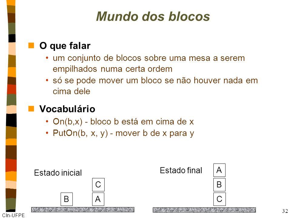 Mundo dos blocos O que falar Vocabulário