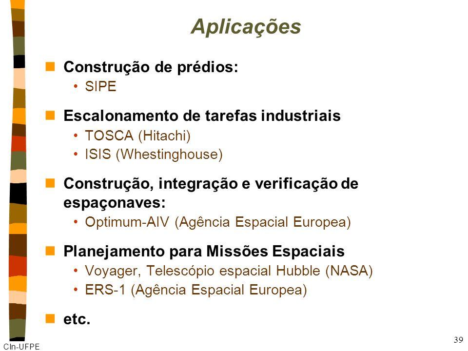 Aplicações Construção de prédios: Escalonamento de tarefas industriais