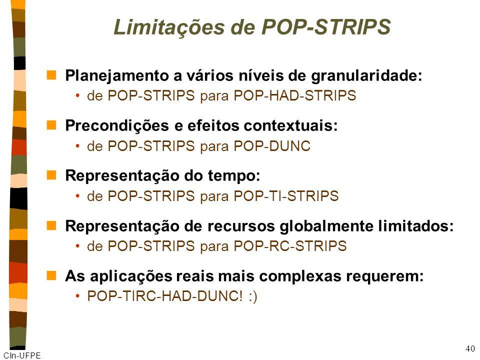 Limitações de POP-STRIPS