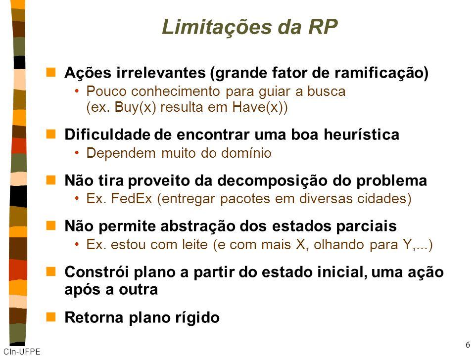 Limitações da RP Ações irrelevantes (grande fator de ramificação)