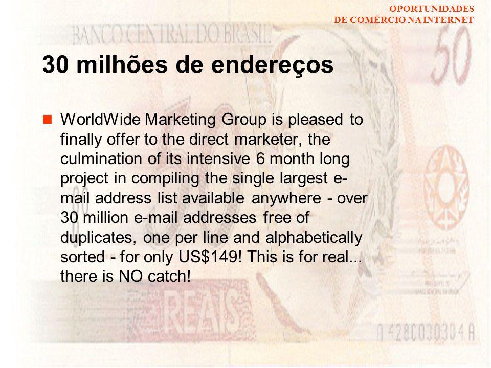 30 milhões de endereços