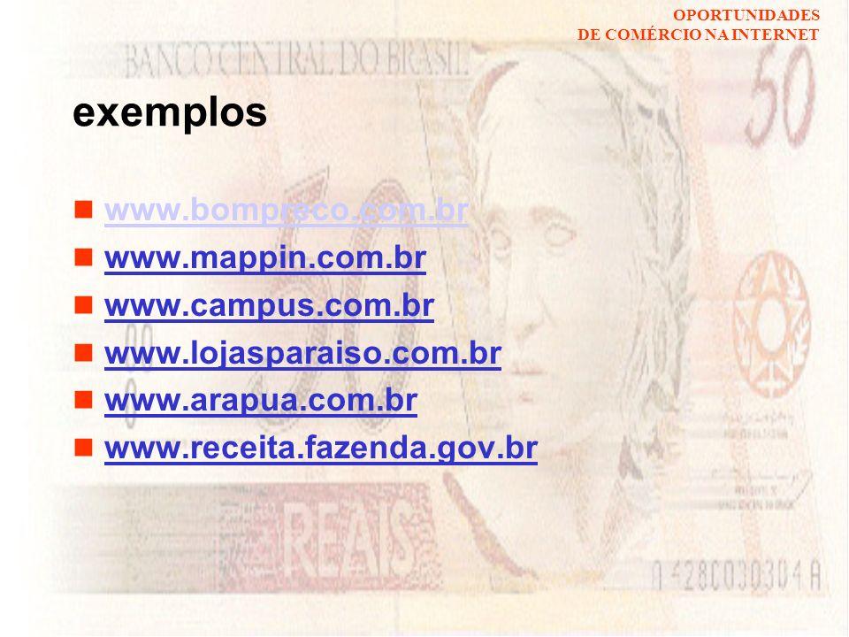 exemplos www.bompreco.com.br www.mappin.com.br www.campus.com.br