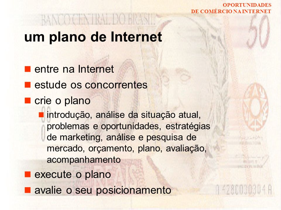 um plano de Internet entre na Internet estude os concorrentes
