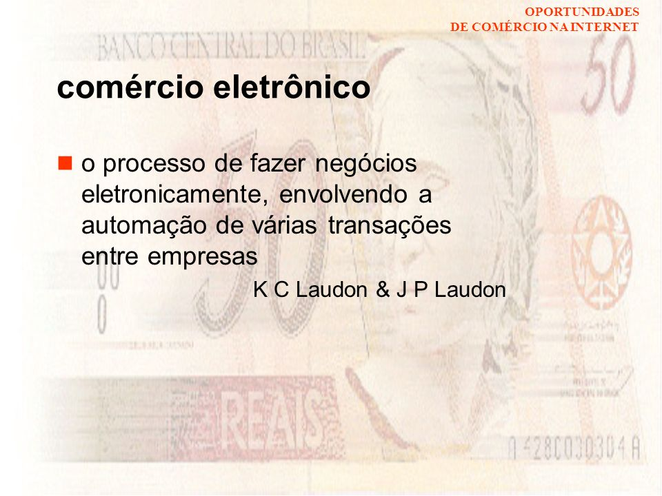comércio eletrônico o processo de fazer negócios eletronicamente, envolvendo a automação de várias transações entre empresas.