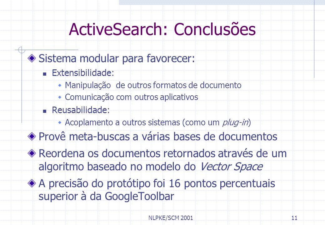 ActiveSearch: Conclusões