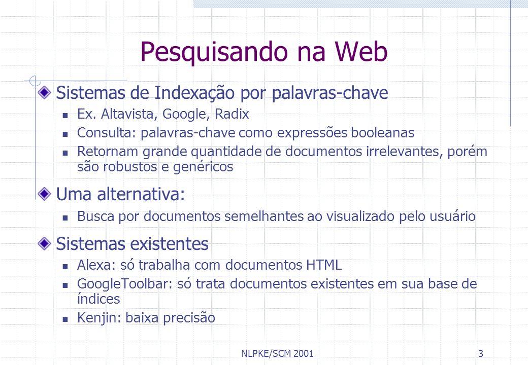 Pesquisando na Web Sistemas de Indexação por palavras-chave