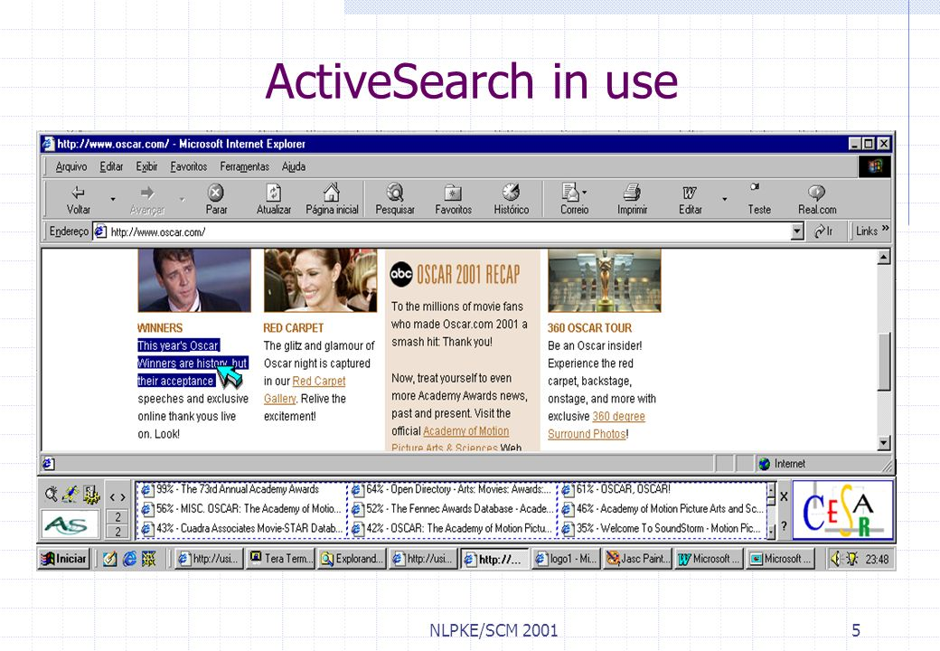 ActiveSearch in use NLPKE/SCM 2001