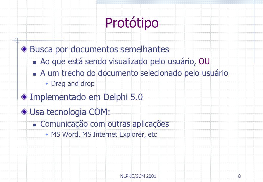 Protótipo Busca por documentos semelhantes Implementado em Delphi 5.0