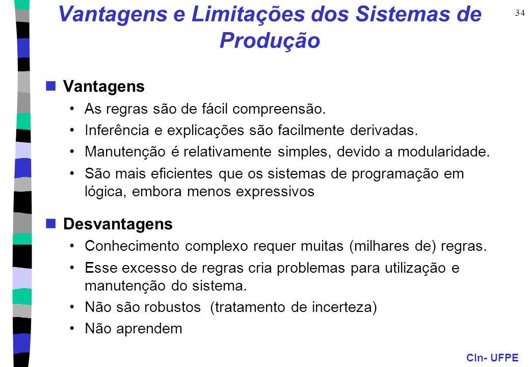 Vantagens e Limitações dos Sistemas de Produção